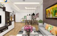Thiết kế nội thất chung cư khu Ngoại giao Đoàn 4 phòng ngủ
