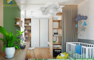 Thiết kế nội thất chung cư 80m2 với sắc màu phá cách