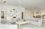 Thiết kế nội thất biệt thự phong cách tân cổ điển sang trọng