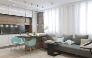 Thiết kế nội thất chung cư hai phòng ngủ cho vợ chồng trẻ