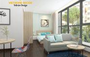 Thiết kế nội thất căn hộ cho người nước ngoài thuê tại Giảng Võ