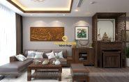 Thiết kế nội thất chung cư đẹp sử dụng gỗ tự nhiên