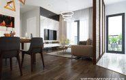 Thiết kế nội thất chung cư Green Bay đơn giản, nhẹ nhàng mà hiện đại