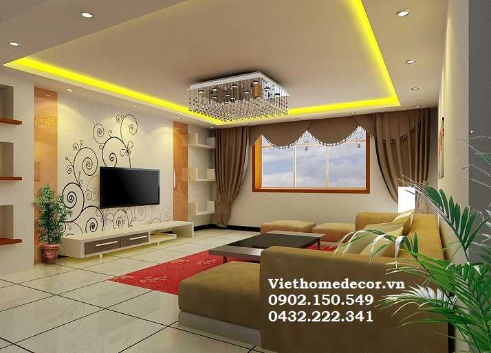 Thiết kế nội thất phòng khách cho gia chủ mệnh hỏa mang đến vận may