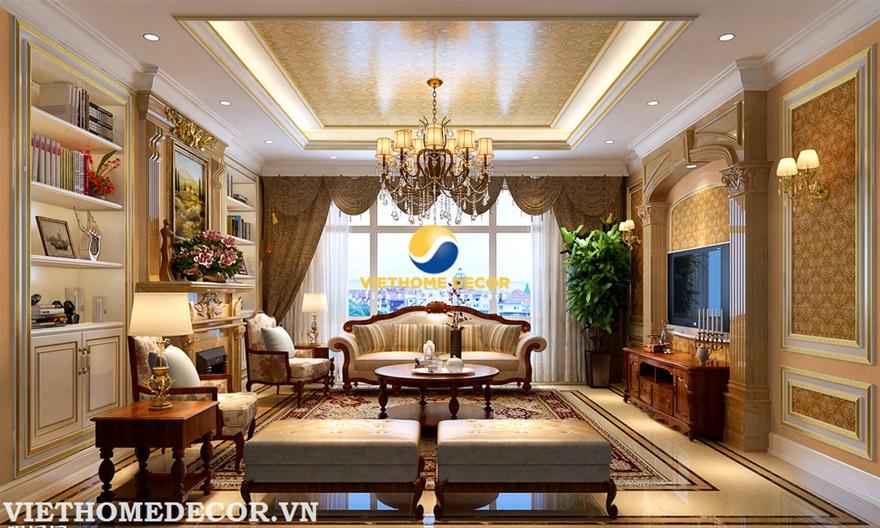 Thiết kế nội thất căn hộ chung cư phong cách cổ điển thế nào cho đẹp