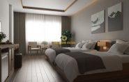 Thiết kế nội thất phòng ngủ khách sạn 3 sao tại Quảng Ninh