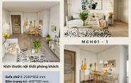 Thi công nội thất chung cư 2 phòng ngủ chỉ 79,5 triệu – MCH01 – 1